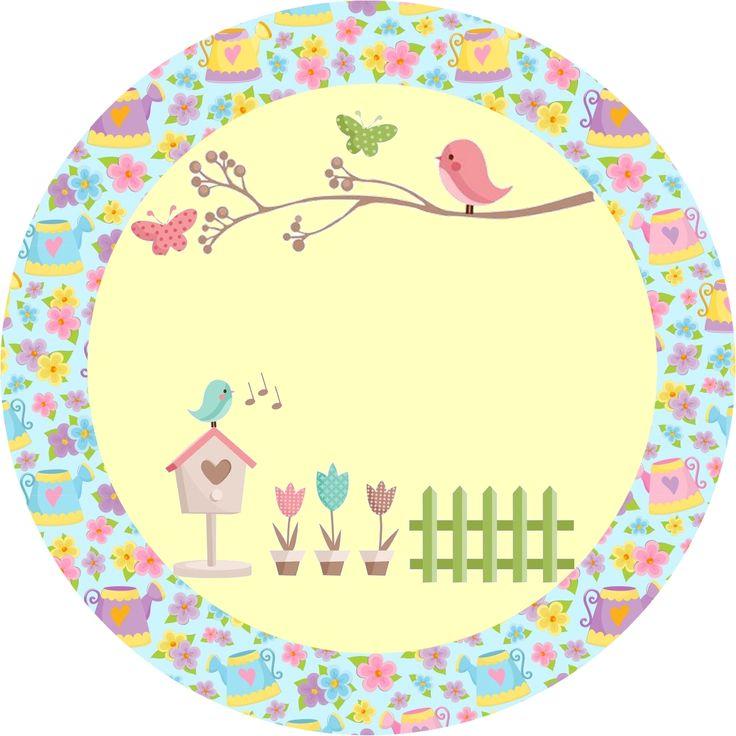 Kit de festa Personalizado com tema Jardim Encantado - Dicas pra Mamãe
