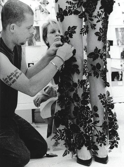Alexander McQueen making magic Via http://bloodmilk.tumblr.com