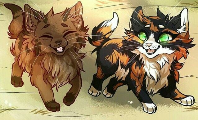 Bramblekit and Tawnykit | Warrior cats | Warrior cats