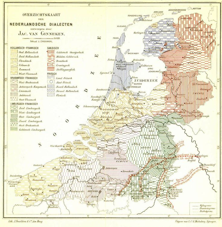 Map of Netherlands Dialects