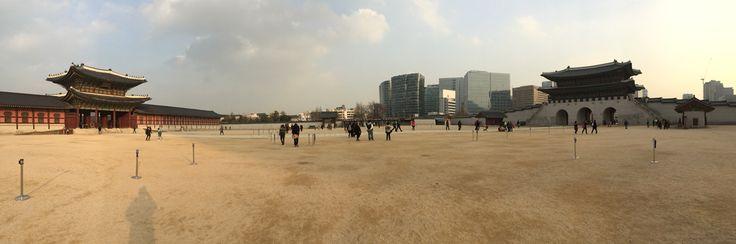 Main square in the Palace area in Seoul Korea