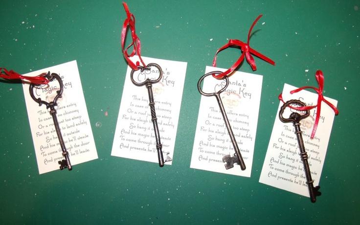 santa key ~  Jill Parkhill Designs