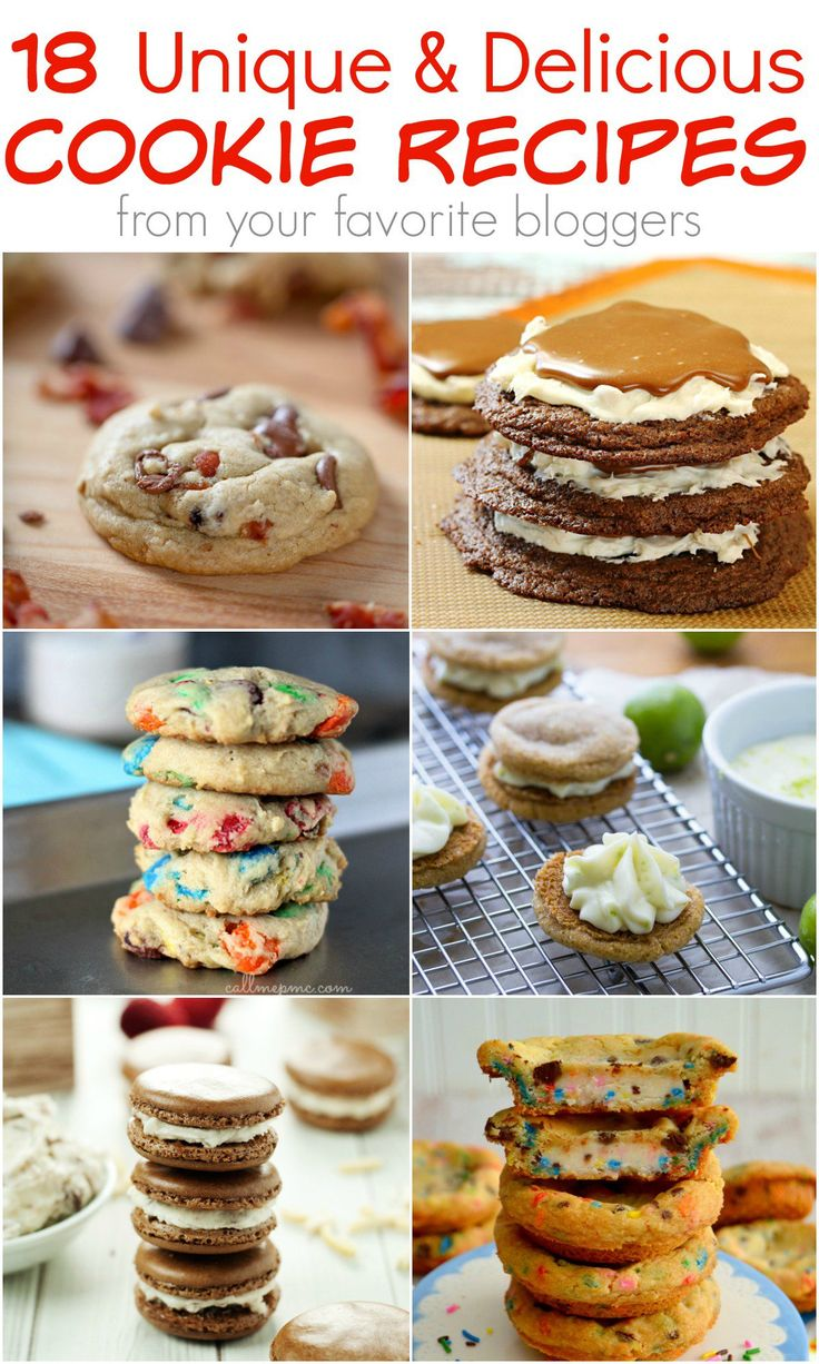 18 Deliciously Unique Cookie Recipes from your favorite bloggers