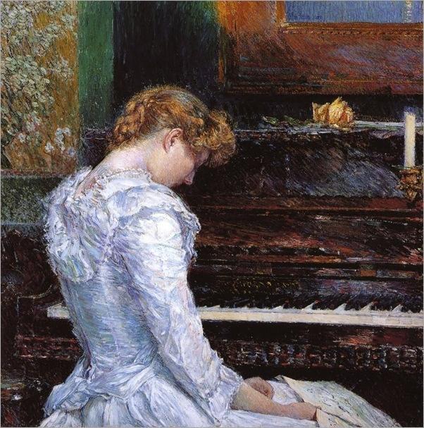 The Sonata (1893). Childe Hassam (American, Impresionism, 1859-1935)