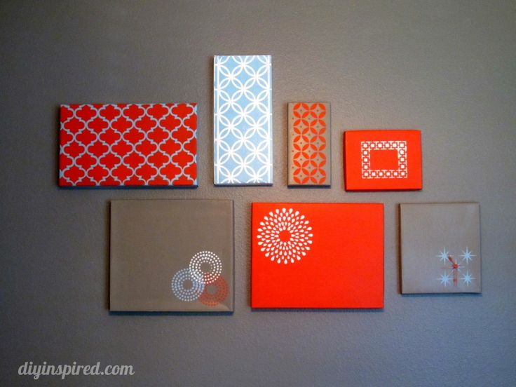 DIY Shoe Box Lid Wall Art. -- Some may call this cheap. I call it creative repurposing. <3 Which is awesome and sustainable. ;)