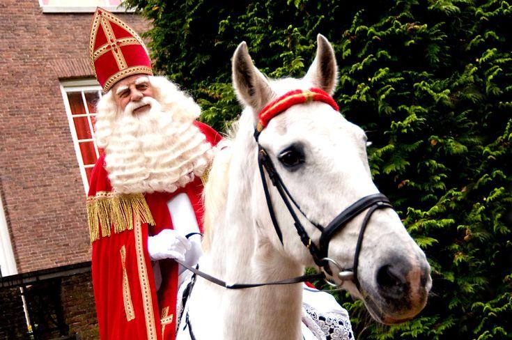 Sinterklaas, on his horse
