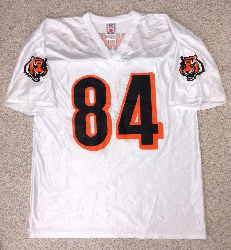 vtg CINCINNATI BENGALS TJ HOUSHMANDZADEH #84 JERSEY Shiny-White Unisex ADULT LRG #NFL #CincinnatiBengals