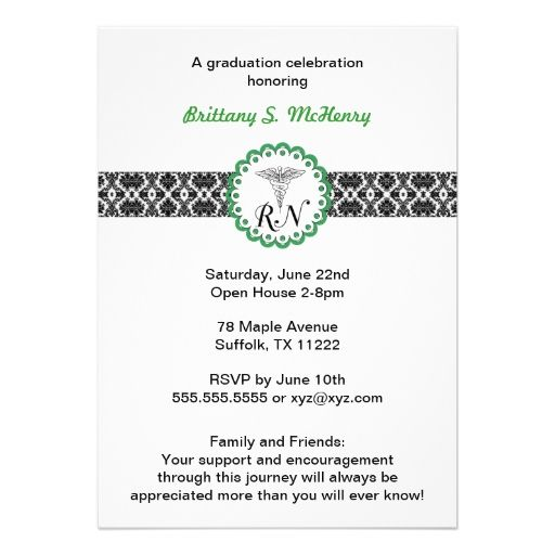 10 best architect graduation announcements invitations images on caduceus damask green invitation nursing rn stopboris Choice Image