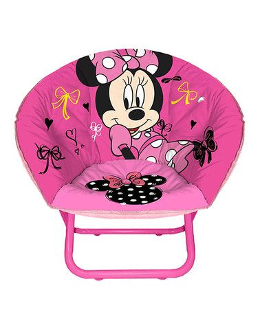 This Minnie Mouse Toddler Saucer Chair is perfect! #zulilyfinds