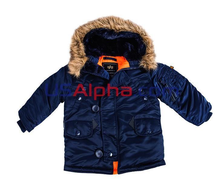 Куртка Youth N-3B #аляска #парка #детская куртка #теплая куртка #детям #мода #alpha #usalpha.com