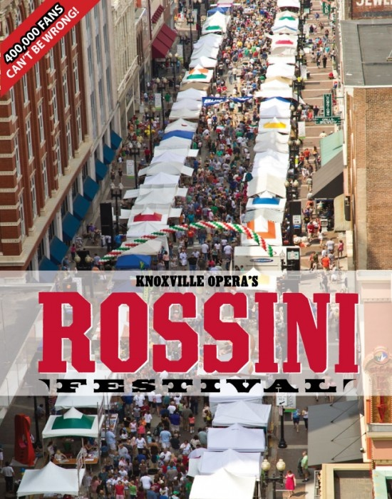 The 11th Annual Rossini Festival takes place Saturday, April 28, 2012 from 11:00 am – 9:00 pm downtown Gay Street and Market Square. Fun stuff!