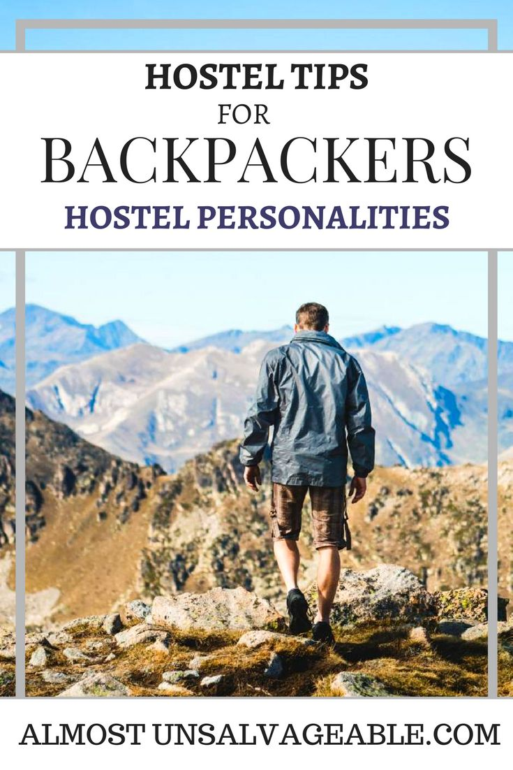 The hostel personalities that you find when backpacking!