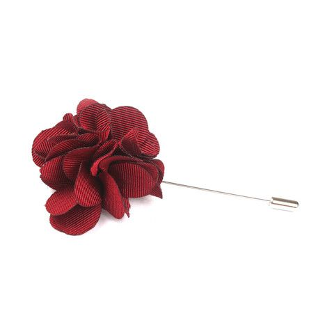 Bordeaux Maroon Lapel Flower | Suit Lapel Flower Pins | The Brothers at OTAA | OTAA.COM
