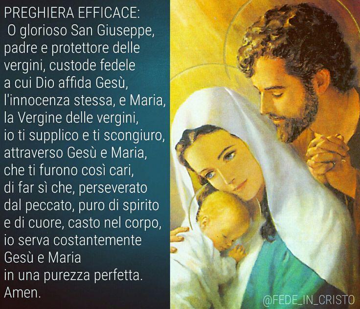 Preghiera a San Giuseppe per ottenere la purezza. Santa Teresa di Lisieaux la recitava ogni giorno.