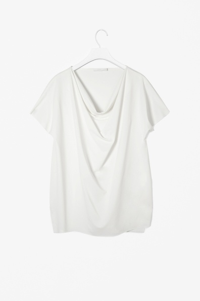 Draped raw-cut top