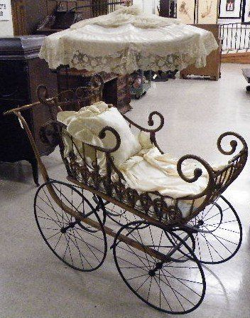 victorian baby carriage | 164: VICTORIAN BABY CARRIAGE WITH PARASOL, Heywood Bro : Lot 164