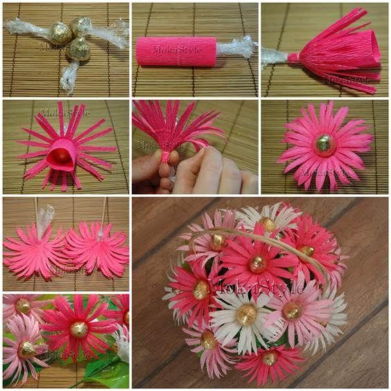 DIY Chocolate Gerbera Flower Bouquet | iCreativeIdeas.com Like Us on Facebook ==> https://www.facebook.com/icreativeideas