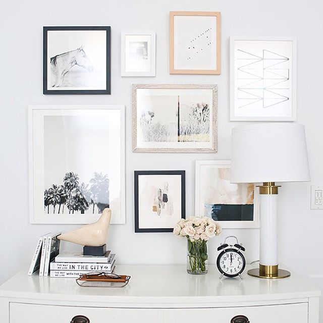 Charming A Styled Gallery Wall Over The Dresser. Looking For Beautiful, Unique And  Dreamy Art Great Pictures