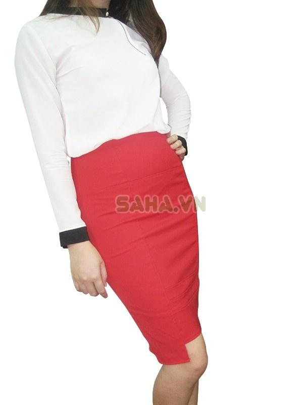 Chân váy bút chì color block ấn tượng, thanh lịch khuyến mãi giảm giá rẻ nhất 85.000 VND