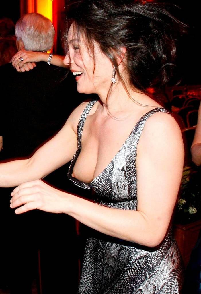 Erotic nipple slips in public