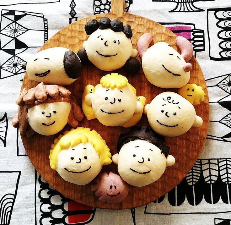 チャーリー・ブラウンや友人パン♡