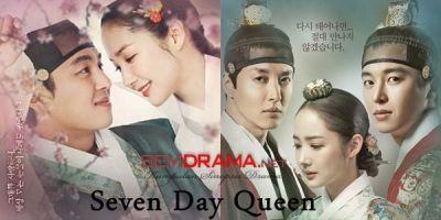 Keanggunan Park Min Young dalam Drama korea Seven Day Queen mampu mencuri hati Yun Woo Jin dan Lee dong Gun