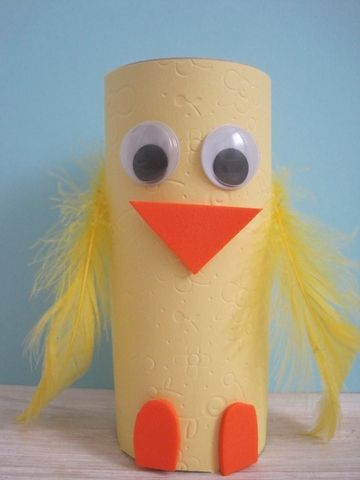 Kids' Easter Craft: Toilet Paper Roll Chick - Lara Smith