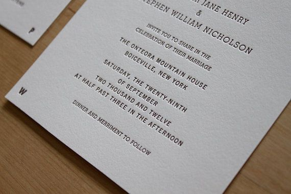 Letterpress Wedding Invitation  Weathervane by moontreepress, $5.00