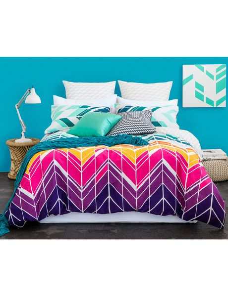 Bring lively colour to your bedroom decor with the Keiko Dakota duvet cover set…