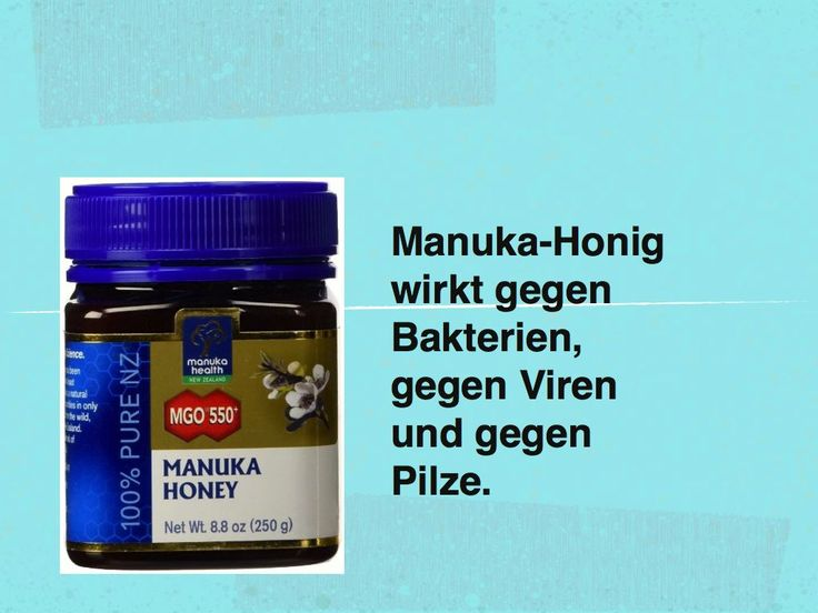 Anwendung von Manuka Honig