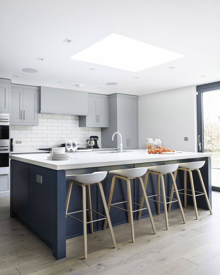 Create A Large Open Plan Kitchen Design And Living Space That Has A New  England Kitchen Feel. Having A Busy Family Meant There Were High  Expectations.