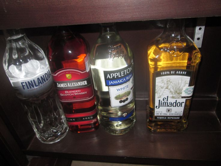 Stocked Bar in our room :)