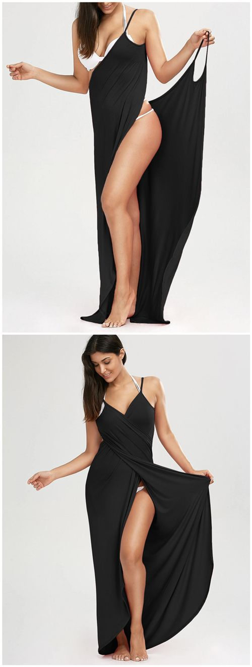 $7.98 Beach Maxi Wrap Slip Dress