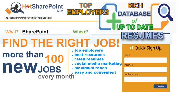 Top employers and rich database of up to date SharePoint