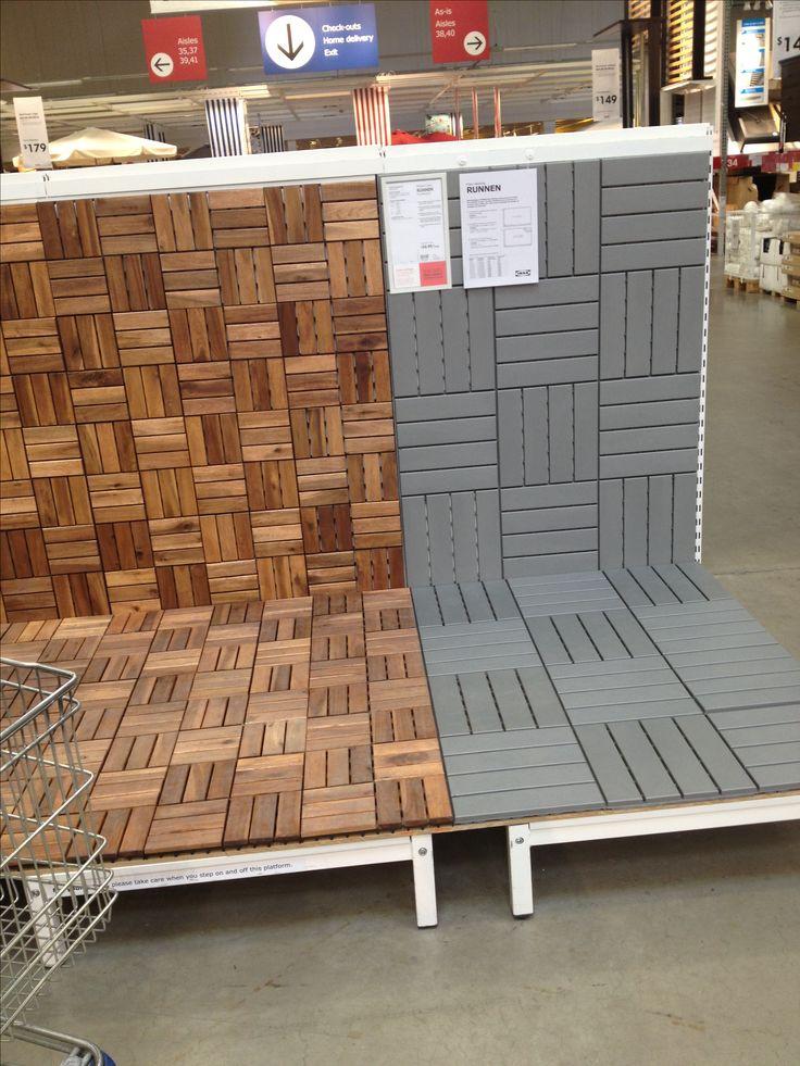 Ikea Deck Tiles Patio Pick Me Up Pinterest Decking