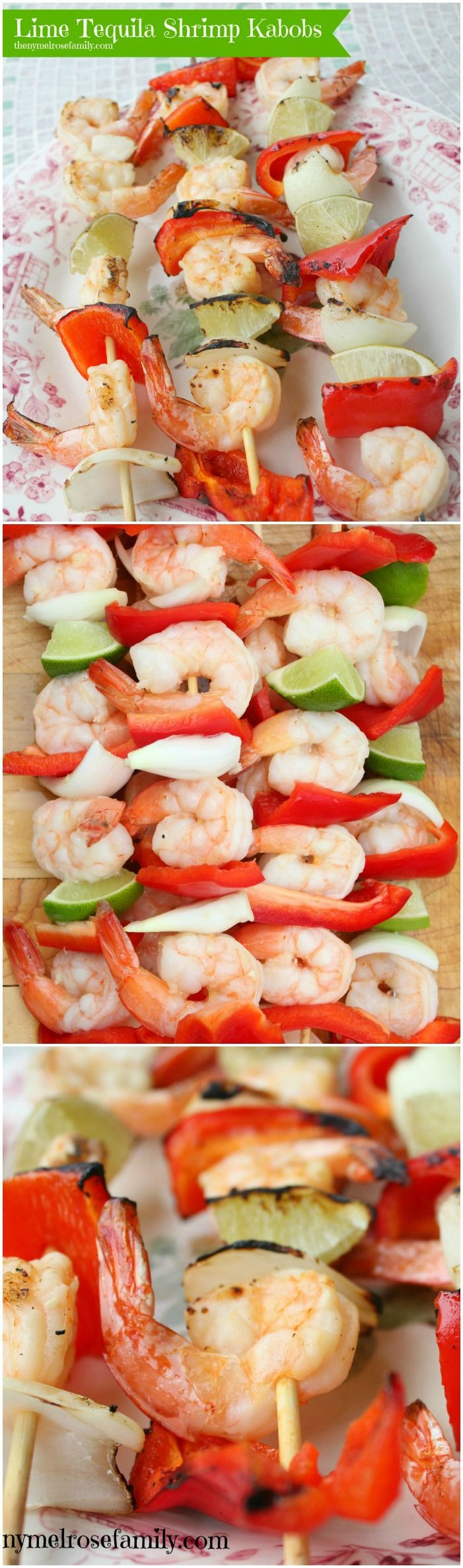 Lime Tequila Shrimp Kabobs