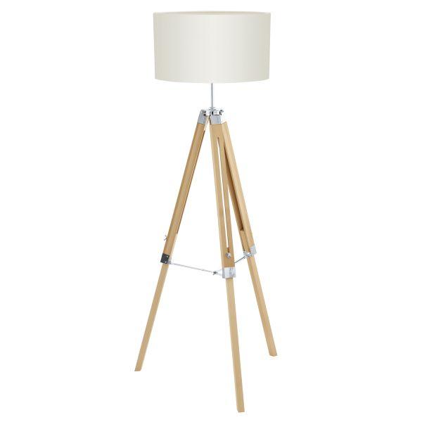 Lantada golvlampa trä/beige - Golvlampor   Lampgallerian.se