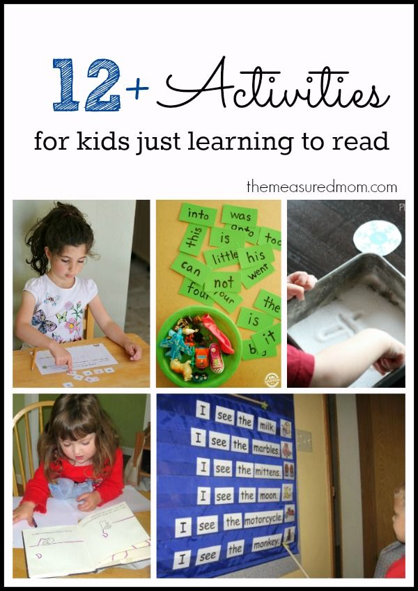 Great activities for kids just learning to read!