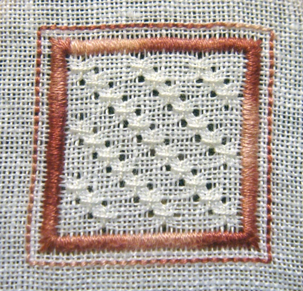 Whitework embroidery sided biscornu free patterns