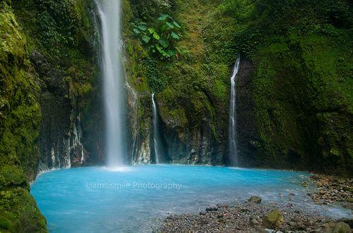 Air Terjun Dua Warna di Sibolangit, Sumatra Utara. Indonesia www.nusatrip.com/id/tiket-pesawat/ke/medan/MES #destination #Medan #indonesia #asia #travelingideas #travel #Nusatrip