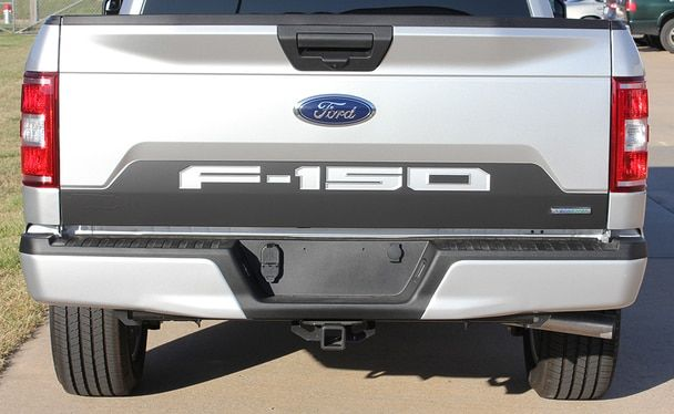 Ford F150 Tailgate Letters Reverse Blackout Stripes 2018 2019 Ford Trucks Lifted Trucks Ford F150