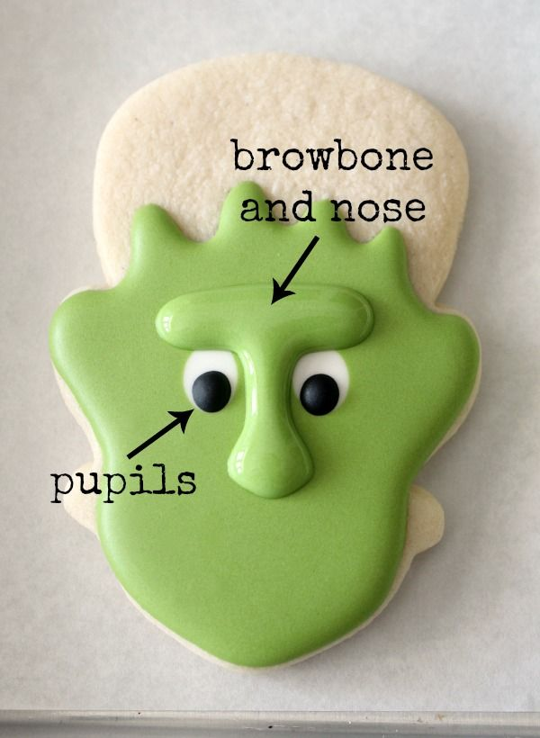 cookie decorating how to make frankenstein cookies for a halloween monster mash by sweet sugar belle
