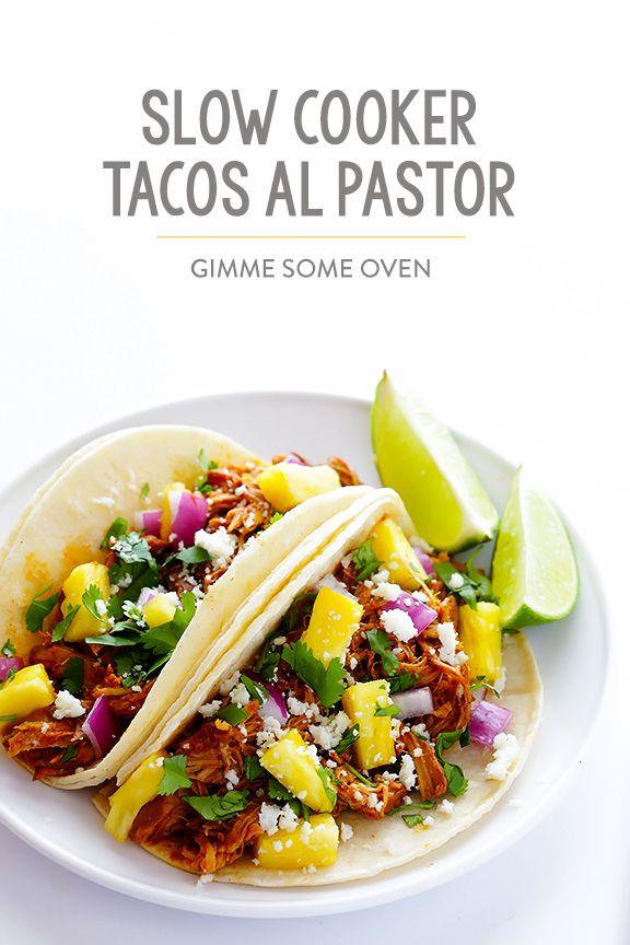 Slow Cooker Tacos Al Pastor Recipe   gimmesomeoven.com