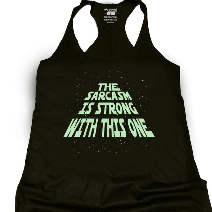 Glowing Sarcasm Is Strong Racerback Tank