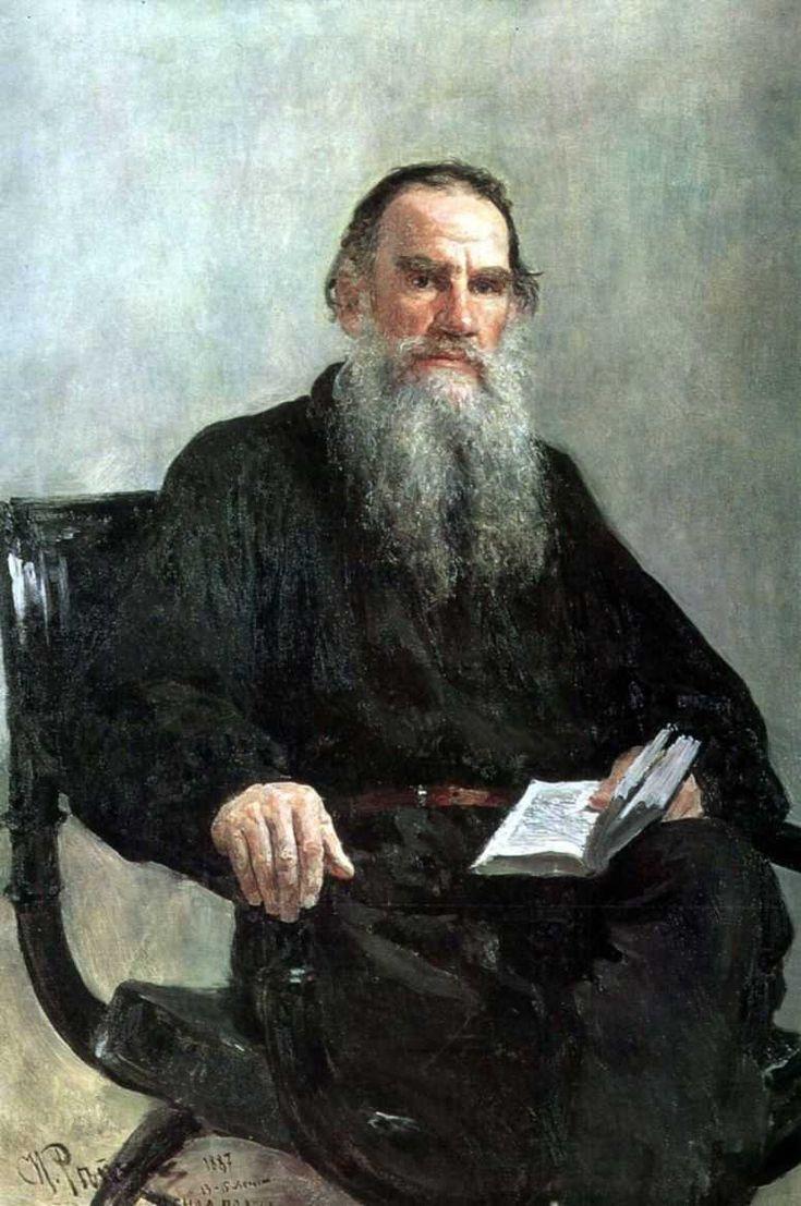 Ilia Repin, The portrait of Leo Tolstoy «Портрет Льва Толстого» 1887