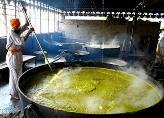Kitchen at Golden Temple, Amritsar. Langar getting ready..