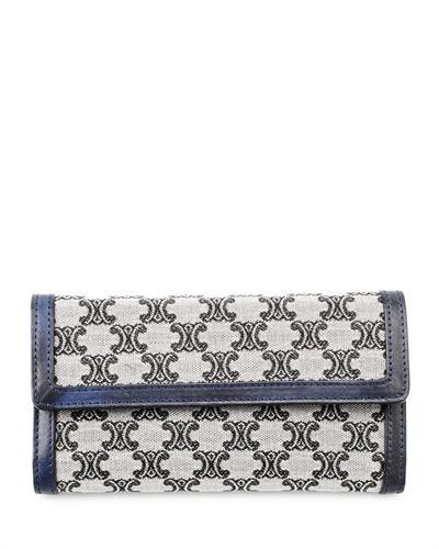 Celine Genuine Leather Print Wallet