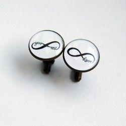Manžety kulaté infinity love #bestman #wedding #cuffs #cufflinks #handmade #crystal #resin #love #lovemywife #wife #svatební #manžety #knoflíčky #designempathy #infinity