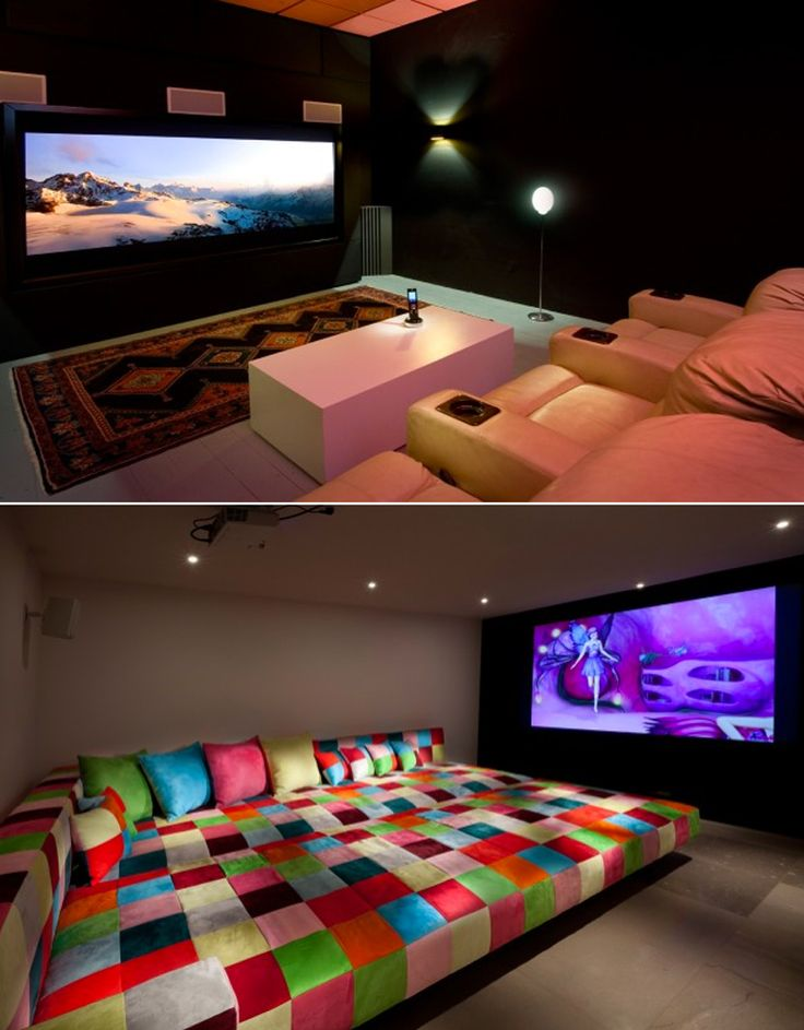 home theater, love giant couch, but different color