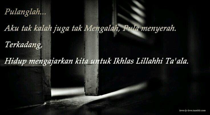 Insha Allah ikhlas, glu..